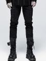 Black Gothic Punk Decadent Long Pants for Men
