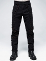 Black and Red Gothic Punk Decadent Long Pants for Men
