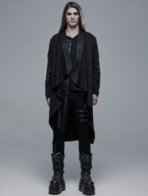 Black Gothic Dark Devil Daily Wear Cardigan for Men