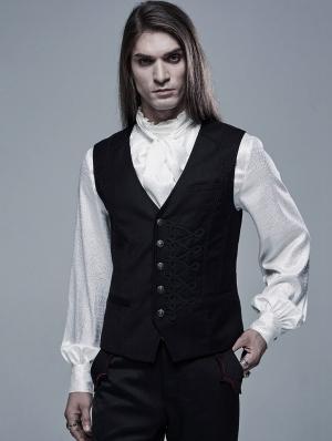Black Vintage Gothic Gentleman Vest for Men
