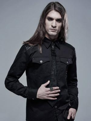 Black Gothic Punk Ghost Stylish Tie for Men