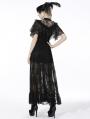 Black Retro Gothic Short Lace Cape for Women