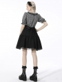 Black and Grey Plaid Gothic Lost Girl Short Dress