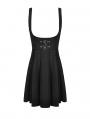 Black Gothic Witch Pentagram Daily Wear Short Dress