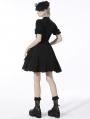 Black Gothic Daily Wear Layered Short Shirt Dress