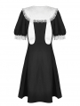 Black and White Gothic Lolita Short Sleeve Daily Wear Dress