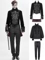 Black Velvet Retro Gothic Party Swallow Tail Party Suit for Men