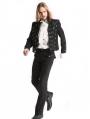 Black Vintage Gothic Jacquard Long Pants for Men