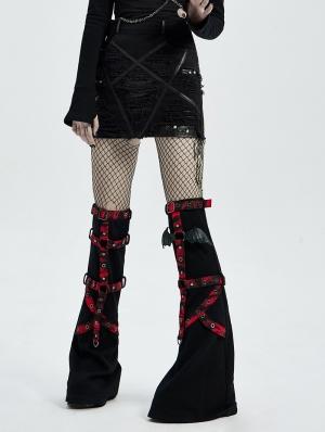 Black Gothic Decadent Pentagram Pattern Women's Mini Denim Skirt