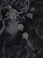 Gothic Punk Pentagram Long Single Earring