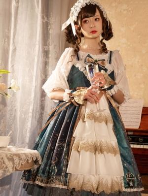 Night of the Magic Lamp Blue Sweet Lolita JSK Dress