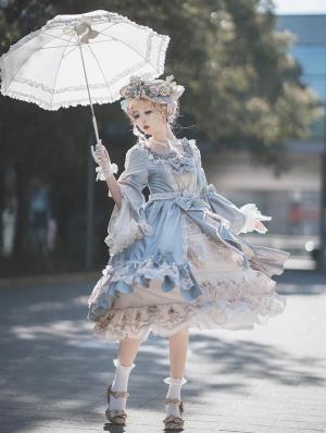 Elizabeth Elegant Velvet Gorgeous Open Front Classic Lolita OP Dress