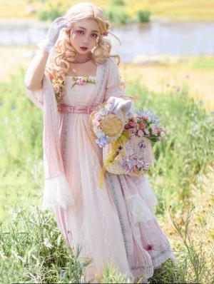 Sally Garden Pink Lotus Sleeve Empire Waist Classic Lolita OP Dress