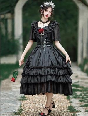 Neverland Rosary Prayer Elegant French Style Lolita OP Dress