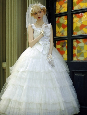 Neverland Falling Dreamland Flower Marriage Elegant and Gorgeous Lolita JSK Dress