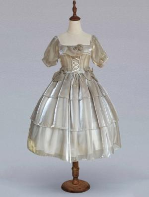 Neverland Moonlight Three Layers Reflective Elegant Lolita OP dress