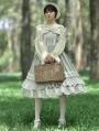Neverland Midsummer Light Year Green French Style Elegant Lolita JSK Dress with Detachable Overlay
