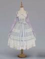 Neverland Midsummer Light Year Blue French Style Elegant Lolita JSK Dress with Detachable Overlay