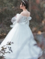 Neverland Light Night Poem White French Elegant Wedding Lolita OP dress