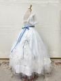 Neverland Fluttering Rose White Gorgeous and Elegant Flower Wedding Lolita OP dress