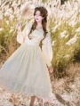 Neverland Miss Imperial Capital of Five Sisters White Long Sleeve Gothic Lolita OP Dress