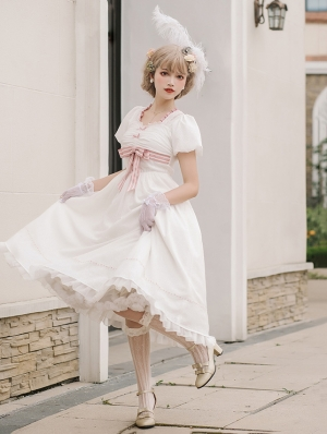 Moon and Song Elegant and Sweet Bowknot Retro Lolita OP Dress