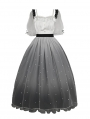 Star River Beaded Tulle Gradient Color Dreamy Short Sleeve Classic Lolita OP Dress