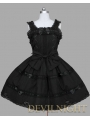 Black Sleeveless Sweet Gothic Lolita Dress