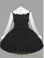 Black and White Long Sleeves School Gothic Lolita Dress