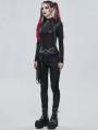 Black Gothic Punk Tassel Buckle Waistband for Women
