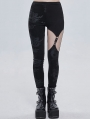 Black Gothic Punk Sexy Hollow Out Long Pants for Women