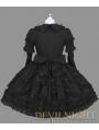 Black Long Sleeves Lace Ribbon Bow Gothic Lolita Dress
