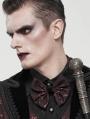 Red Gothic Retro Jacquard Bowtie for Men