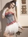 Stripes Overbust Burlesque Corset