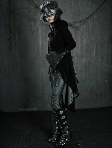 Black High-Low Tuxedo Style Gothic Jacket for Women ...   450 x 597 jpeg 140kB