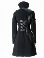 Black Leather Gothic Coat for Women