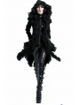 Black Long Hooded Gothic Coat for Women