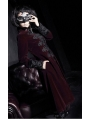 Red Vintage Court Style Gothic Coat for Women and Men