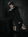 Black Lace-up Long Gothic Outfit Dress for Women