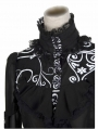 Black Romantic Chiffon Gothic Blouse for Women
