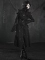 Black Cross Pattern Long Gothic Trench Coat for Women and Men