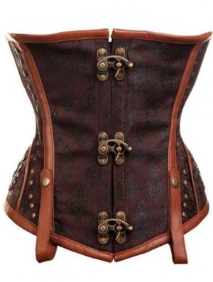 Brown Underbust Fashion Steampunk Corset