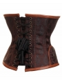 Brown Underbust Fashion Steampunk Corset