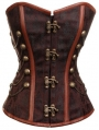 Brown Overbust Fashion Steampunk Corset