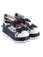 White/Black/Pink Sweet Bow Lolita Platform Shoes