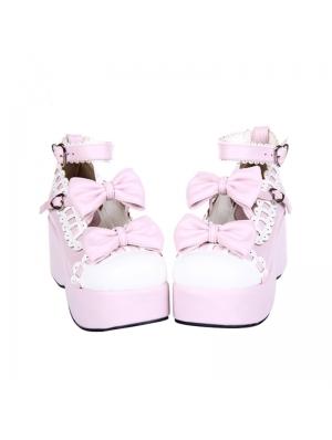 Dreamy Pink Bow Sweet Lolita Platform Shoes