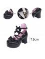 Pink/Black/White Little Princess Sweet Lolita High Heel Shoes