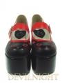 Red/Black Cat Pattern Sweet Lolita Platform Shoes