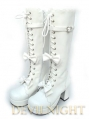 Black/White Sweet Bow Lolita High Heel Boots