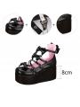 Pink/White/Black/Red Sweet Bow Lolita Platform Shoes